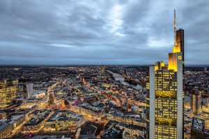 Frankfurt Aerial View Komerzbank photographer Christian Bill