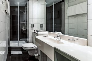 Mercure Frankfurt City Center Messe Badezimmer